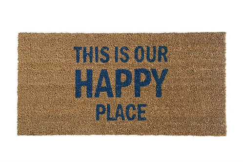 """Coir Door Mat """"This Is Our Happy Place"""""""