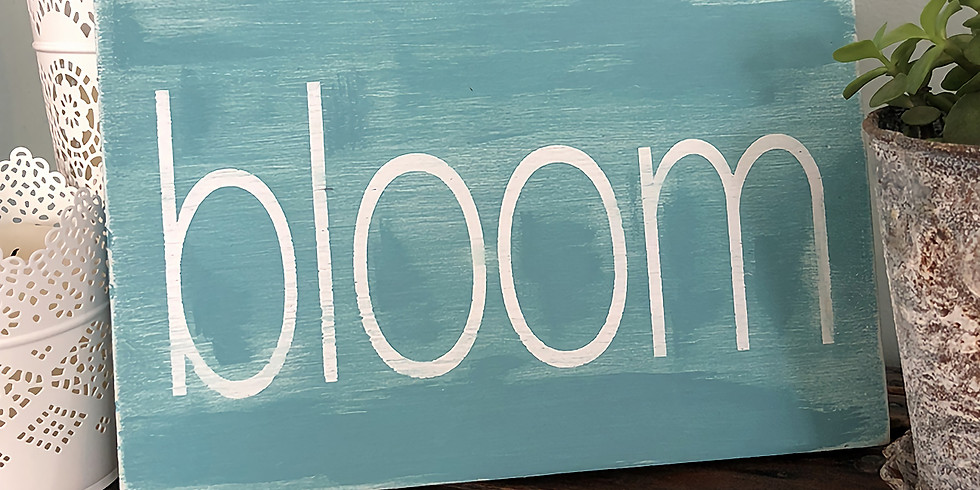 Be Creative ~ Wooden Sign Making