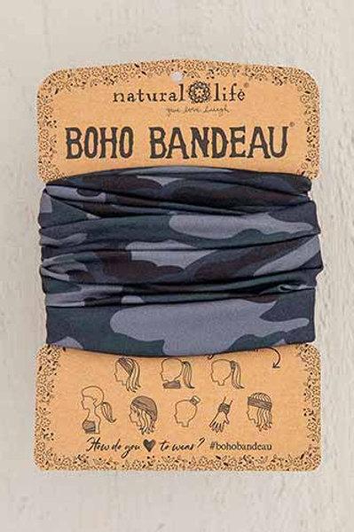 Navy Camo Boho Bandeau
