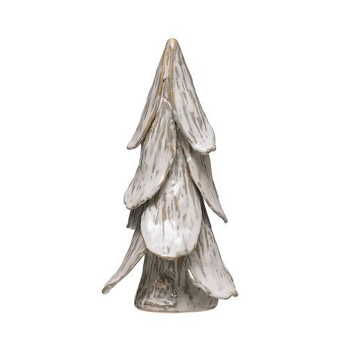 Handmade Stoneware Tree, White