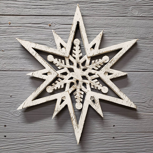 Born in a Barn - Snowflake Wall Hanger