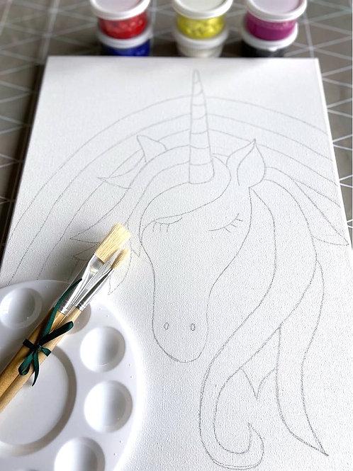 Painting kit - Unicorn & Rainbow