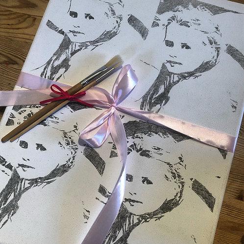 Bespoke Painting Kit -Andy Warhol Pop Art style portrait
