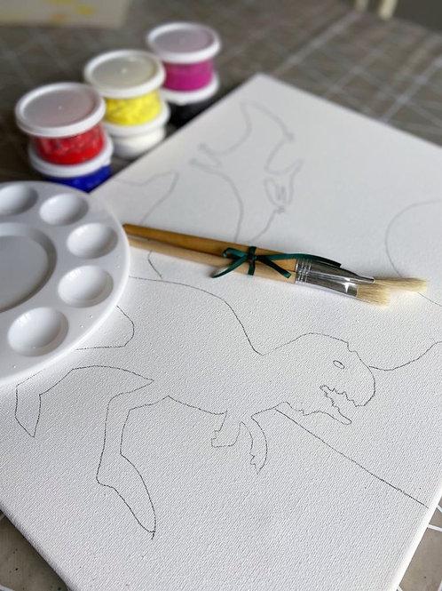 Painting kit - Dinosaurs at Dusk