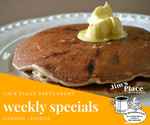Jim's Place Restaurant, Pancakes