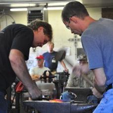 artist David Norrie trains artist blacksmiths at his school