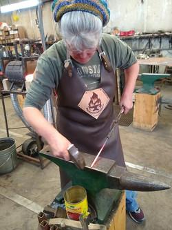 Art teacher learns to forge iron