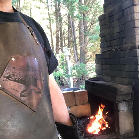 Well loved leather apron by Forge Aprons
