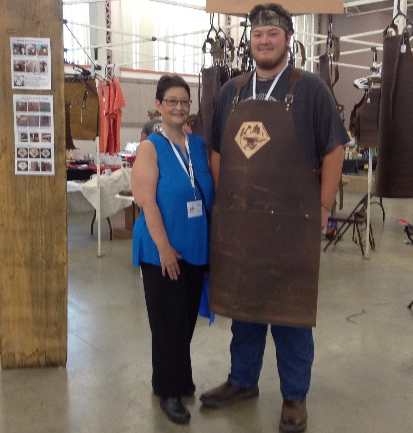 Joel in his new Forge-Apron