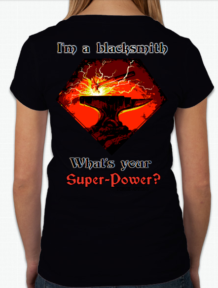 "V neck T-shirt women's ""I'm a blacksmith..."""