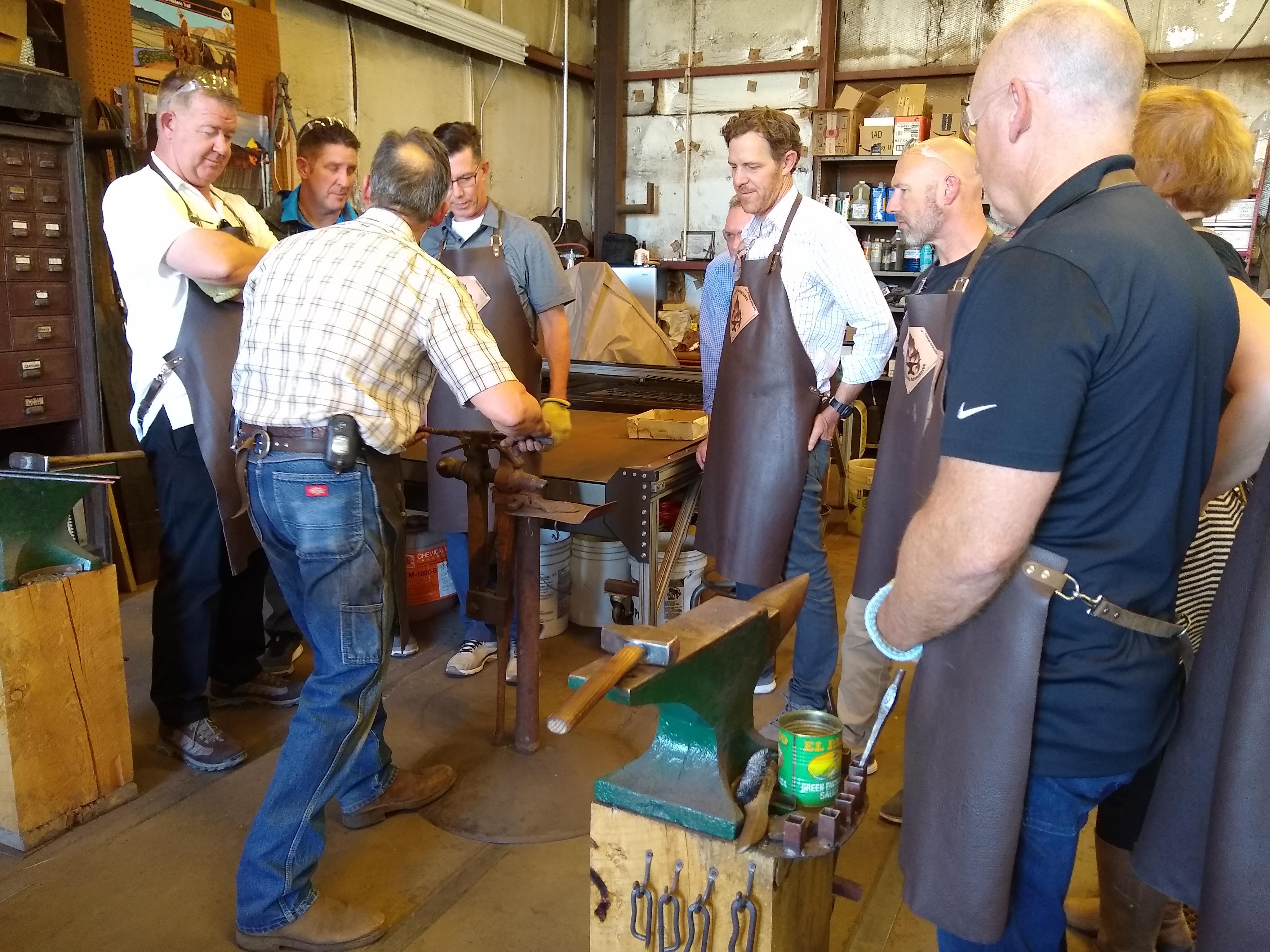Blacksmith Adventures team building with