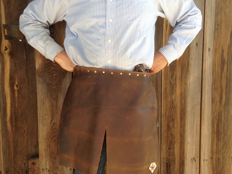 Your blacksmith apron made your way