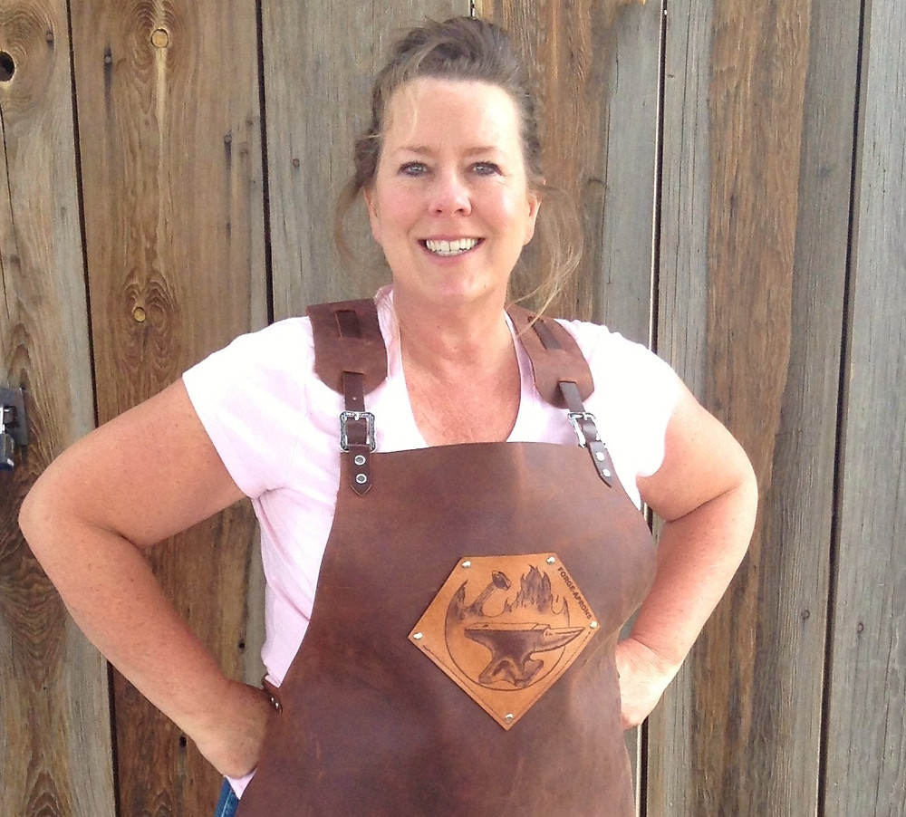 April models an apron