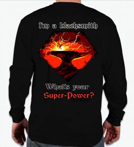 "Long sleeve Black T-shirt ""I'm a blacksmith..."""