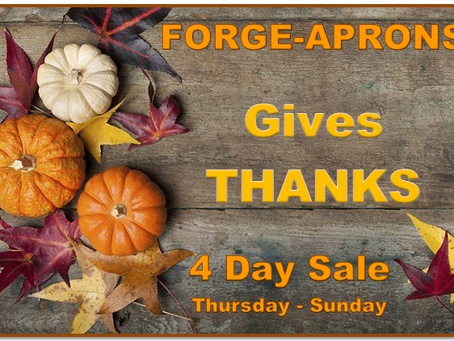 Forge-Aprons gives Thanks