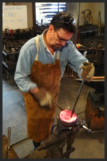 Found Metal Sculpture Class at Forge with Intention Blacksmithing School