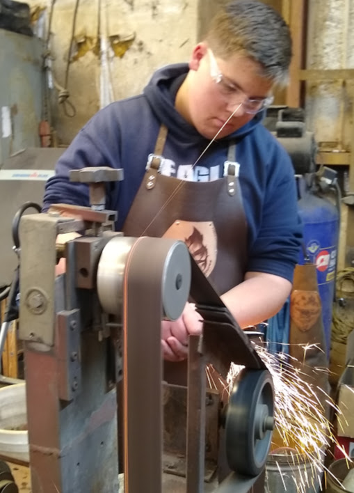 Putting an edge on it at the sander