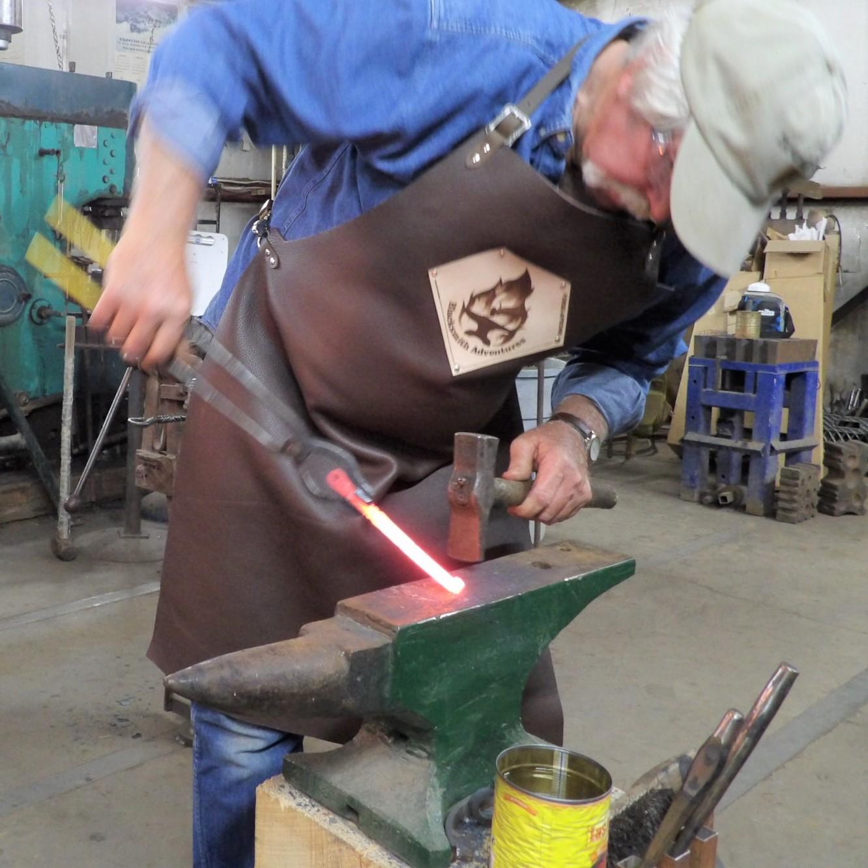 Larry forging a hook