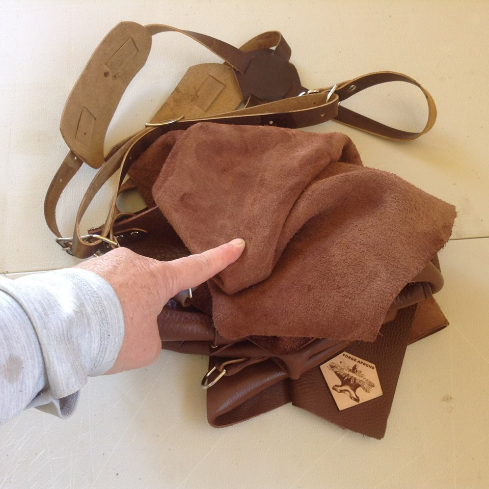 super soft brown leather Forge-Apron