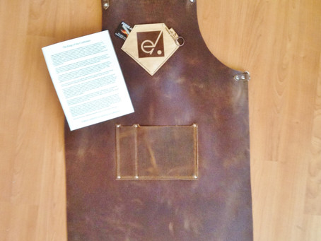 Personalized, customized leather blacksmith aprons make great gifts