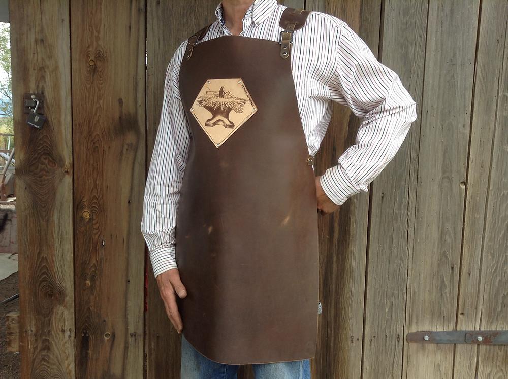 Mid-length Forge-Apron leather blacksmith apron