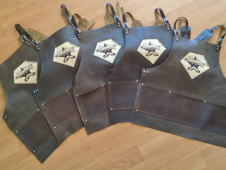Five Forge-Aprons for Bladesmith Shop