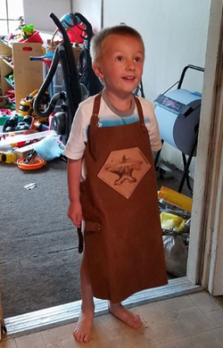 Kids size Forge Apron with tool loop