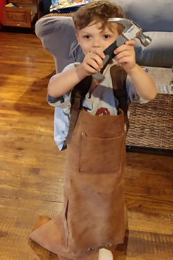 Wills grandson stealing his apron