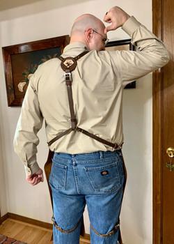Joseph Patrick Y strap on leather shop a