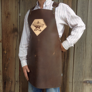 "The Mid-Length 31"" long blacksmith apron"