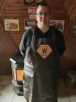 Amy Winkel proudly displays her Forge Ap