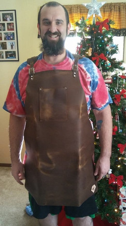 Matt Dillon in his new apron