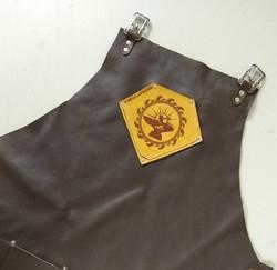 wave logo on Original Cut Forge Apron blacksmith apron