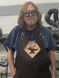 Jack looking a little Steam Punk in his new ForgeApron