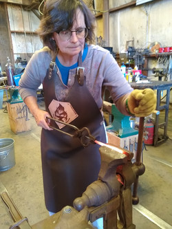 Linda getting ready to twist