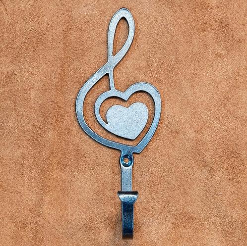 Hook- Heart for Music Silhoutte