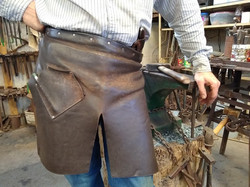 3+ year old leather waist apron