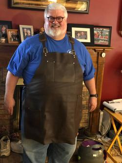 Custom sized blacksmith apron