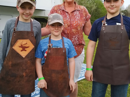 Rising Stars - 3 young blacksmiths in Forge-Aprons