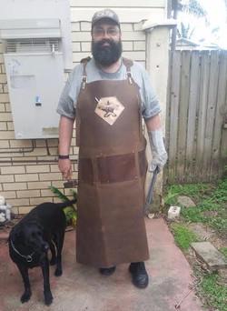 XL Tall Custom Blacksmiths Apron
