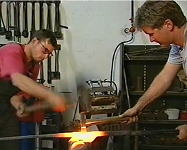 Receive one on one training in blacksmithing from David Norrie Blacksmithing School