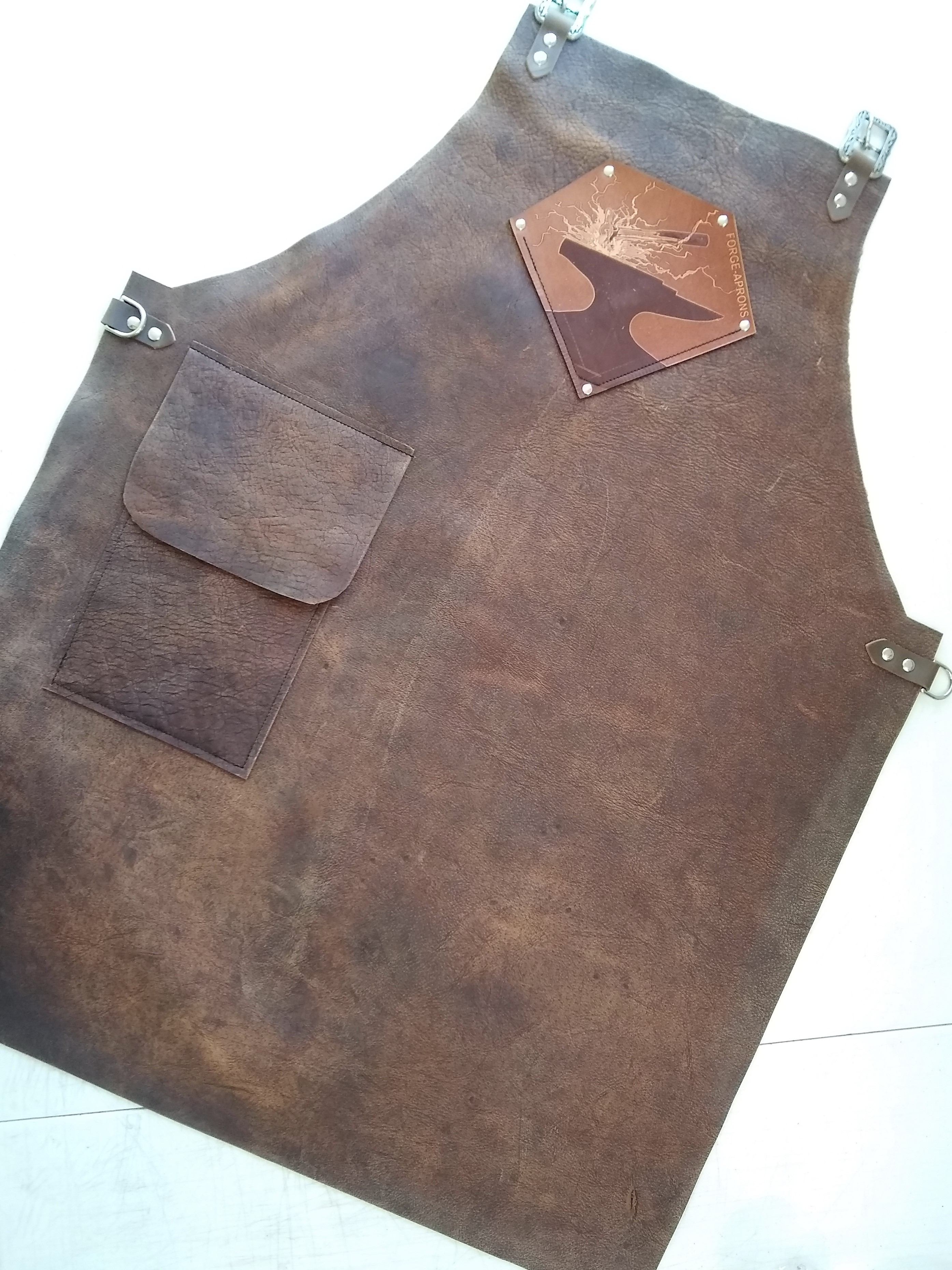 Forge Apron in optional buffalo leather