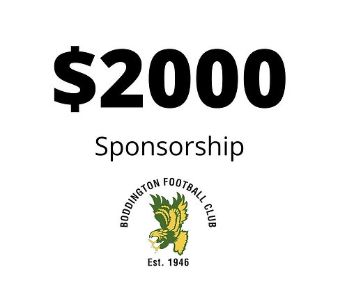 $2,000 Seniors Sponsorship Package