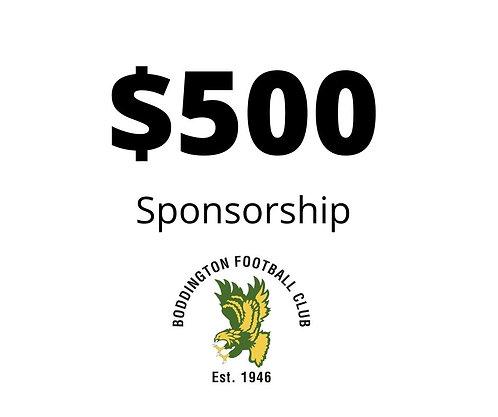 $500 Juniors Sponsorship Package