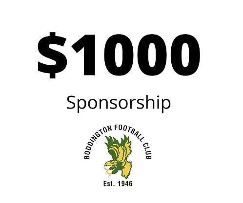 $1,000 Seniors Sponsorship Package