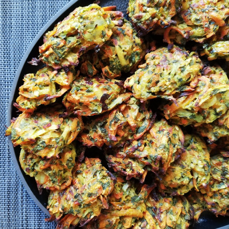 קציצות ירק בתנור עם קוואקר וקמח חומוס קלוי