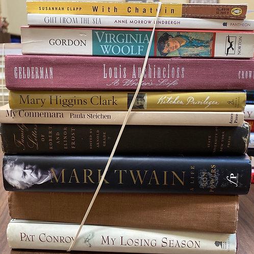 Autobiographies Pat Conroy, mark twain, Virginia Woolf, Anne Morrow Lindbergh,