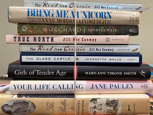 Autobiographies Jane Pauley, Frances Osborne, Jill Ker Conway, girls of tender a