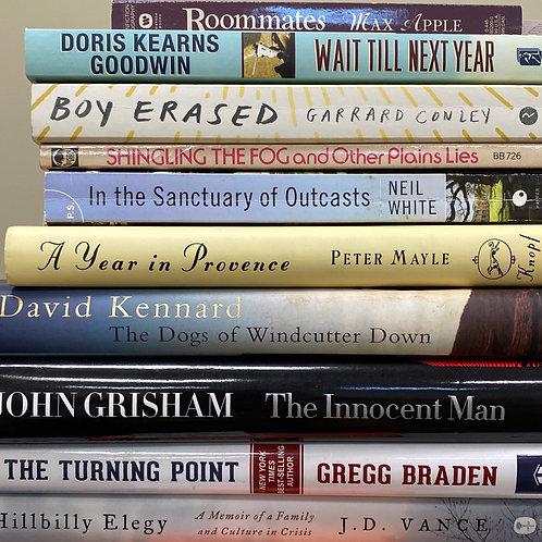 Autobiographies John Grisham, Max Apple, JD Vance, hillbilly elegy, Gregg Braden