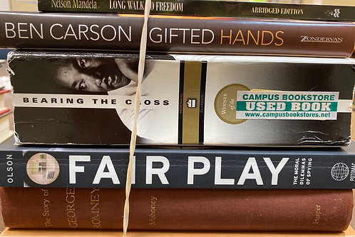 Autobiographies Franklin Roosevelt, George Romney, fair play, Ben Carson, nelson